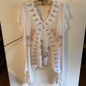 Sundance embroidered and beaded top